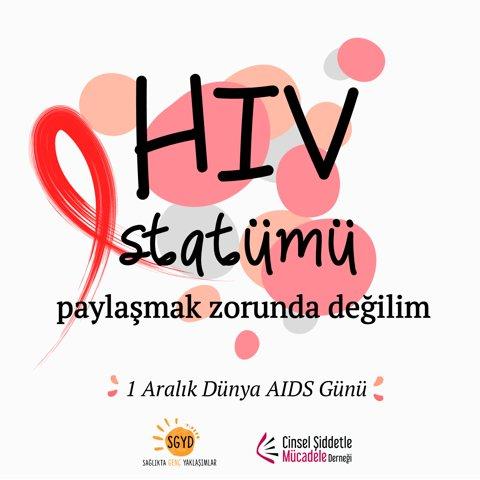 CŞMD ve SGYD'nin 1 Aralık Dünya AIDS Günü'ndeki Çok Tartışılan Twitter Paylaşımına Yönelik Ortak Basın Açıklaması
